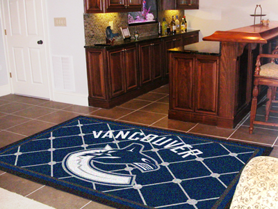 Vancouver Canucks 5 Foot x 8 Foot Rug
