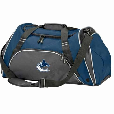 Vancouver Canucks Action Duffle (Color: Navy)