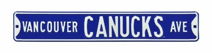 Vancouver Canucks Ave Street Sign