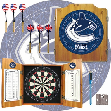 Vancouver Canucks Complete Dart Cabinet