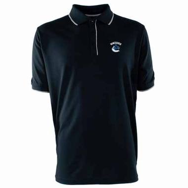 Vancouver Canucks Mens Elite Polo Shirt (Team Color: Navy)