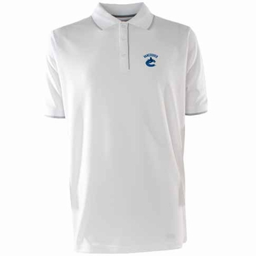 Vancouver Canucks Mens Elite Polo Shirt (Color: White)