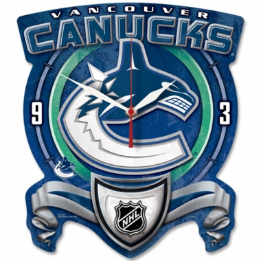 Vancouver Canucks High Definition Wall Clock