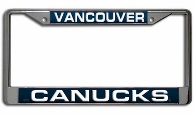 Vancouver Canucks Laser Etched Chrome License Plate Frame