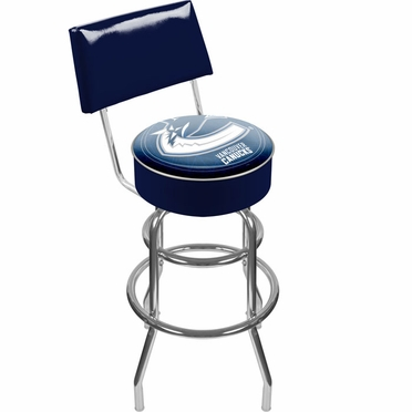 Vancouver Canucks Padded Bar Stool with Back