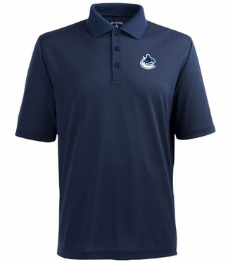 Vancouver Canucks Mens Pique Xtra Lite Polo Shirt (Team Color: Navy)