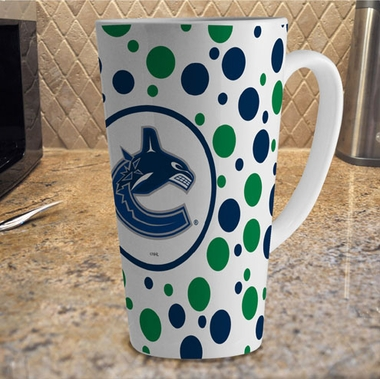Vancouver Canucks Polkadot 16 oz. Ceramic Latte Mug