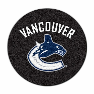 Vancouver Canucks Puck Shaped Rug