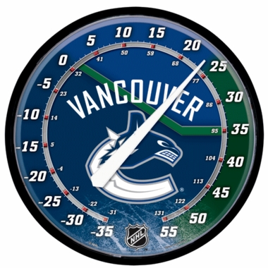 Vancouver Canucks Round Wall Thermometer