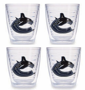 Vancouver Canucks Set of FOUR 12 oz. Tervis Tumblers