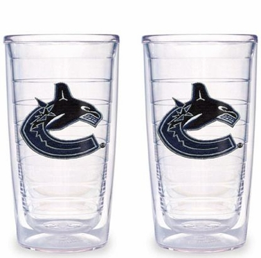 Vancouver Canucks Set of TWO 16 oz. Tervis Tumblers