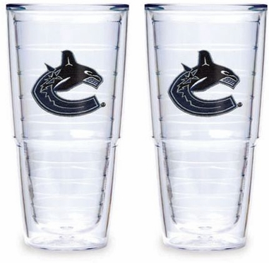 "Vancouver Canucks Set of TWO 24 oz. ""Big T"" Tervis Tumblers"
