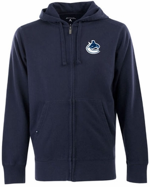Vancouver Canucks Mens Signature Full Zip Hooded Sweatshirt (Color: Navy)