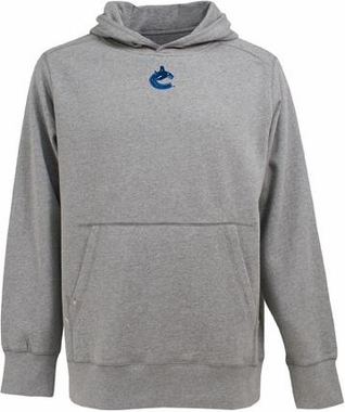 Vancouver Canucks Mens Signature Hooded Sweatshirt (Color: Gray)