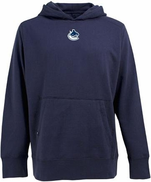 Vancouver Canucks Mens Signature Hooded Sweatshirt (Team Color: Navy)