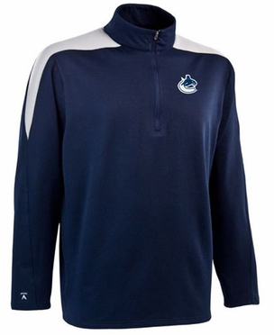 Vancouver Canucks Mens Succeed 1/4 Zip Performance Pullover (Team Color: Navy)