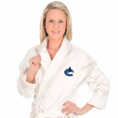 Vancouver Canucks UNISEX Bath Robe (White)