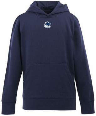 Vancouver Canucks YOUTH Boys Signature Hooded Sweatshirt (Team Color: Navy)