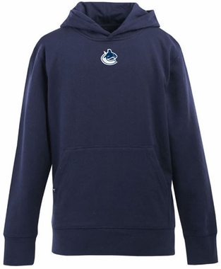 Vancouver Canucks YOUTH Boys Signature Hooded Sweatshirt (Color: Navy)