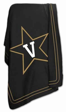 Vanderbilt Classic Fleece Throw Blanket