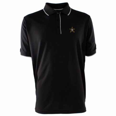 Vanderbilt Mens Elite Polo Shirt (Team Color: Black)