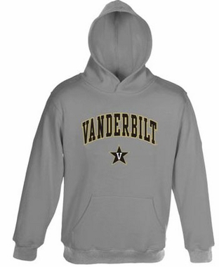 Vanderbilt Embroidered Hooded Sweatshirt (Grey)