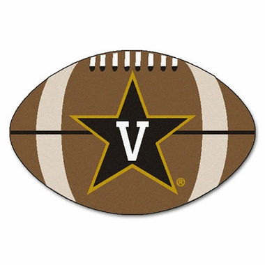 Vanderbilt Football Shaped Rug