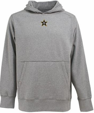 Vanderbilt Mens Signature Hooded Sweatshirt (Color: Gray)