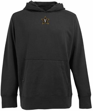 Vanderbilt Mens Signature Hooded Sweatshirt (Team Color: Black)