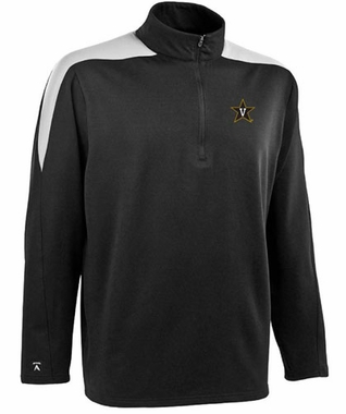 Vanderbilt Mens Succeed 1/4 Zip Performance Pullover (Team Color: Black)