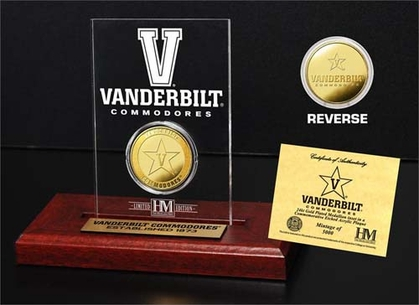 Vanderbilt Commodores Vanderbilt University 24KT Gold Coin Etched Acrylic