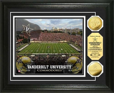 Vanderbilt Commodores Vanderbilt University Stadium Gold Coin Photo Mint