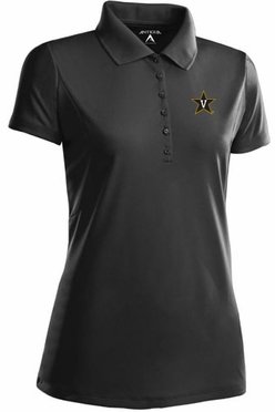 Vanderbilt Womens Pique Xtra Lite Polo Shirt (Team Color: Black)
