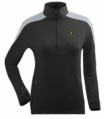 Vanderbilt Womens Succeed 1/4 Zip Performance Pullover (Team Color: Black)