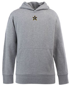Vanderbilt YOUTH Boys Signature Hooded Sweatshirt (Color: Gray) - Medium