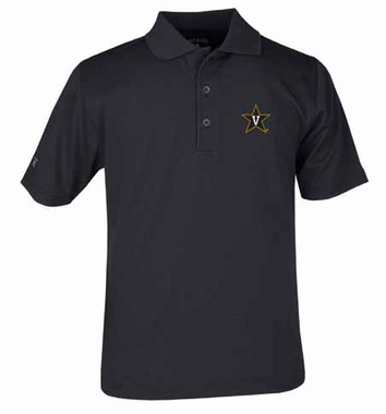Vanderbilt YOUTH Unisex Pique Polo Shirt (Color: Black)