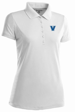 Villanova Womens Pique Xtra Lite Polo Shirt (Color: White)