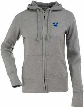 Villanova Womens Zip Front Hoody Sweatshirt (Color: Gray)