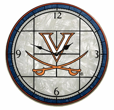 Virginia Art Glass Clock
