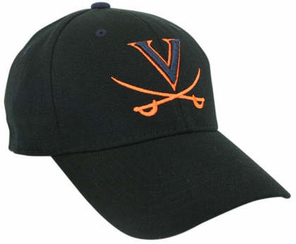 Virginia Black Premium FlexFit Baseball Hat