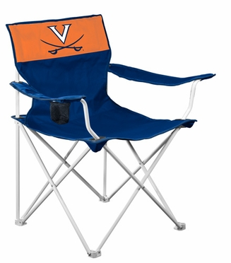 Virginia Canvas Adult Folding Logo Chair
