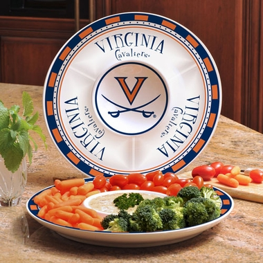 Virginia Ceramic Chip and Dip Plate