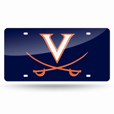 Virginia Deluxe Mirrored Laser Cut License Plate