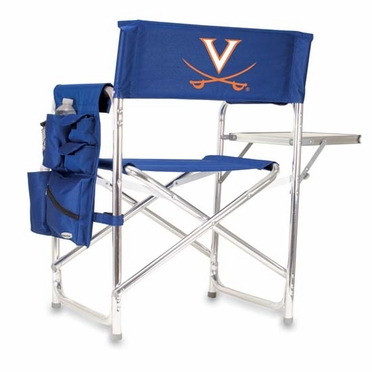 Virginia Embroidered Sports Chair (Navy)