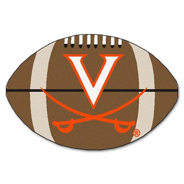 Virginia Football Shaped Rug