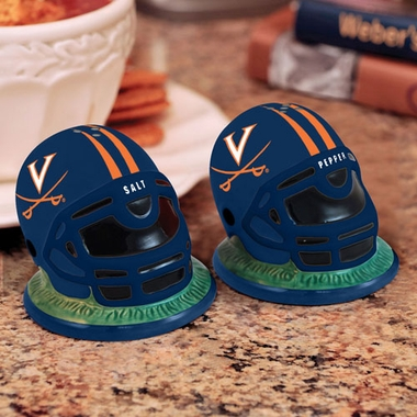 Virginia Helmet Ceramic Salt and Pepper Shakers