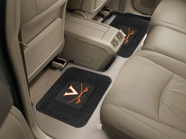 Virginia SET OF 2 Heavy Duty Vinyl Rear Car Mats