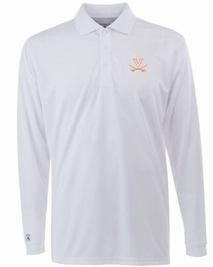 Virginia Mens Long Sleeve Polo Shirt (Color: White)