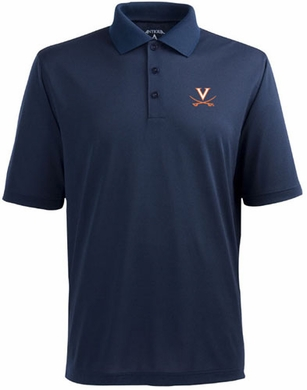 Virginia Mens Pique Xtra Lite Polo Shirt (Team Color: Navy)
