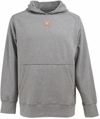 Virginia Mens Signature Hooded Sweatshirt (Color: Gray)